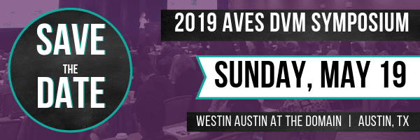 SAVE THE DATE - May 19,2019 - AVES DVM CE SYMPOSIUM